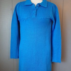 Girls sweater dress size xl 14-16 blue